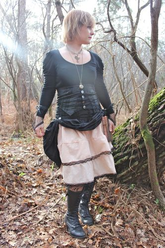 jupe + serre taille steampunk femme