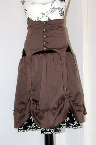 jupe+serre taille steampunk femme