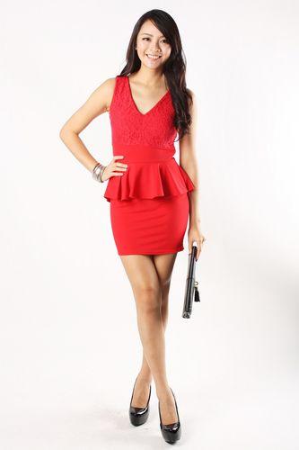aniston-peplum-dress-in-red