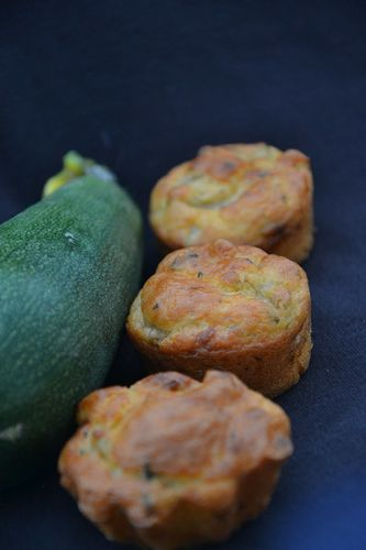 Muffins courgettes 1