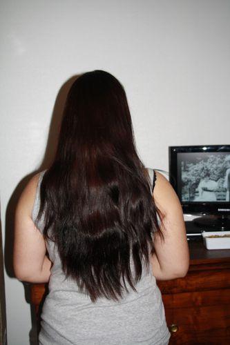 Coloration vegetale pour cheveux noirs