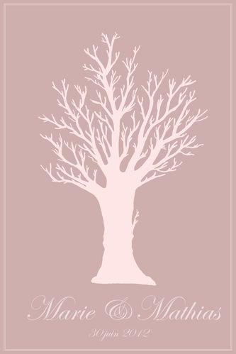 arbre signature - arbre à empreintes - rose