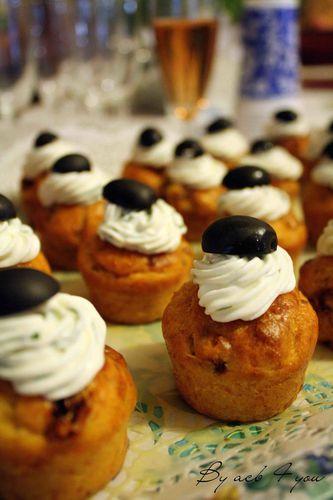 cupcake tomates séchées, basilic et olive a
