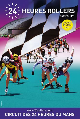 2012 0625 Rollers Le Mans Affiche officielle rollers 2012