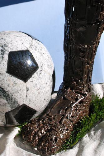 Image ballon et jambe