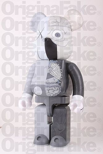 Bearbrick Dissected Grey by Kaws