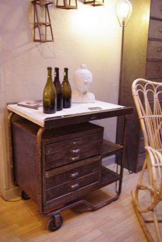 Meuble industriel d 39 usine a tiroirs metal bois vendu le blog du - Usine meuble belgique ...