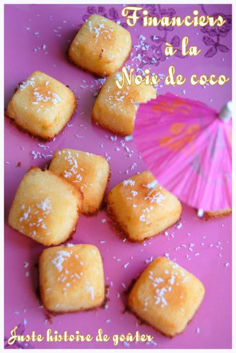 financiers noix de coco