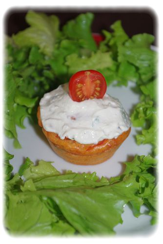 Cupcake tomate mozzarella