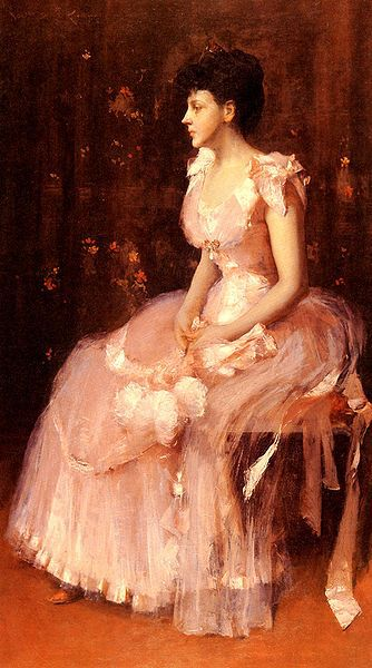 334px-Chase William Merritt Portrait Of A Lady In Pink 1888