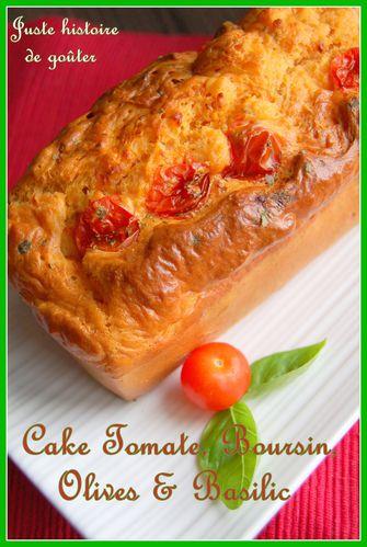 cake tomate boursin olives