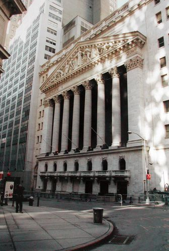 Wall Street le quartier des affaires de New York