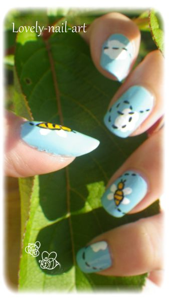 nail art abeille 7