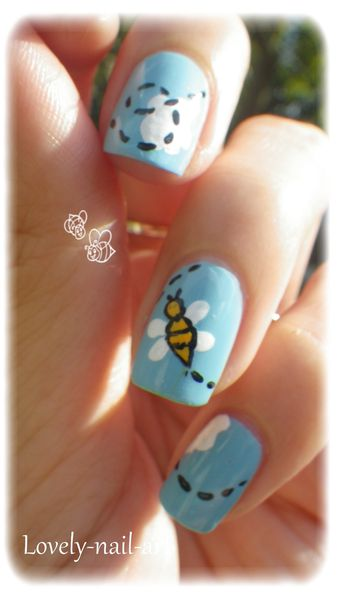 nail art abeille 9