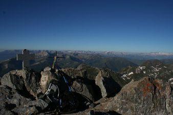 Vue vers sud mont valier avec à droite Maladeta