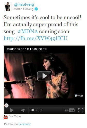 Martin Solveig on Madonna's ''Birthday Song'' for MDNA