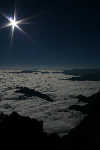 Vue vers est du mont Valier 2838m