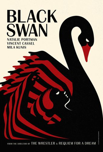 Affiche de Black Swan version retro