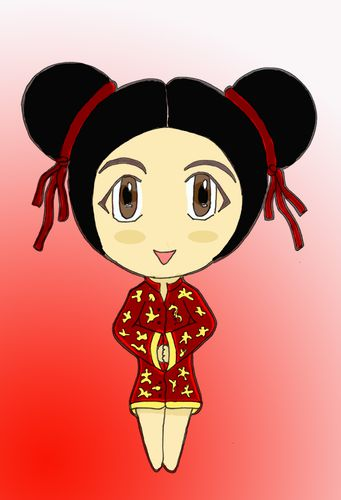 Petite Chinoise Avec Mes 10 Doigts