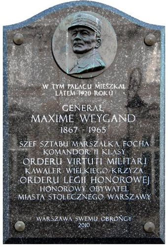779c Varsovie, plaque Weygand