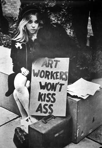 Art Workers Coalition 1969 Art Workers Won't kiss Ass