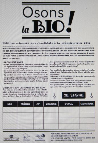 003 Pétition Osons la Bio