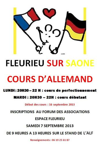 affiche cours allemand