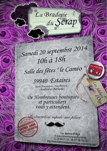 affiche salon scrap estaires 2014