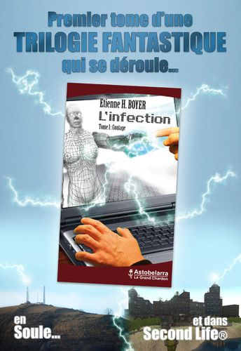 Affiche officielle de ''L'infection, tome 1 : Contage'', par Etienne H. Boyer