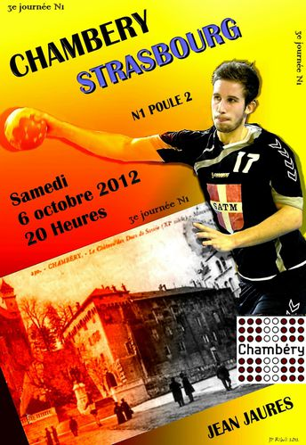 Affiche N1 CHAMBERY STRASBOURG 6 Octobre 2012