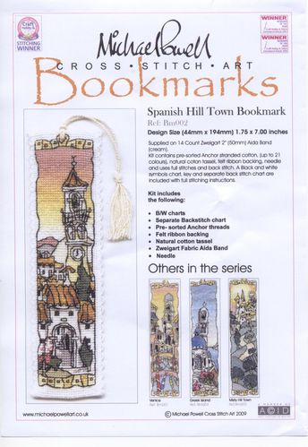 MP - Spanish Hill Town Bookmark 006