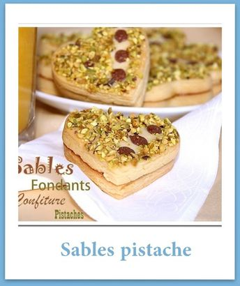 sables pistache confiture