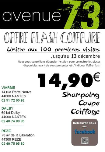 offre flash coiffure