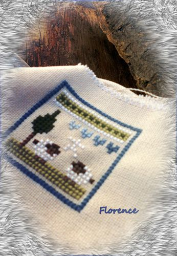 Broderie moutons