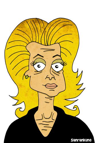 Catherine Deneuve caricature