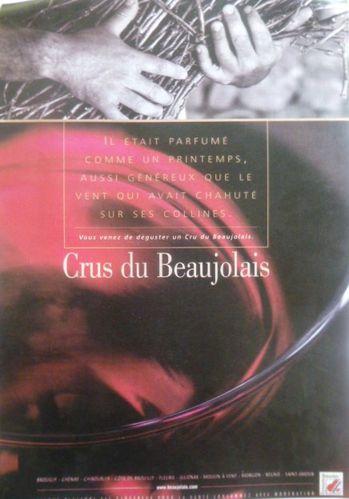 La main de l'Homme, Beaujolais, Crus, Publicité 2002,