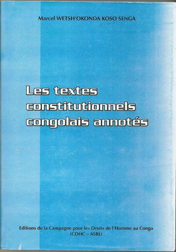 Textes constitutionnels congolais annotés