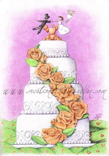 pour son gâteau de mariage reste encore de lui dessiner