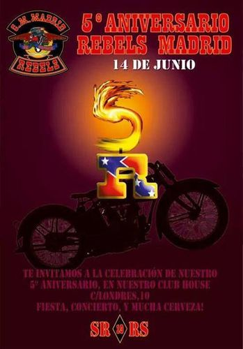 15 de junio 5º Aniversario rebels Madrid