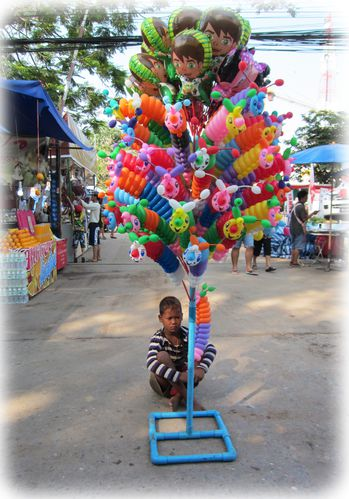 Solitude du vendeur de ballons