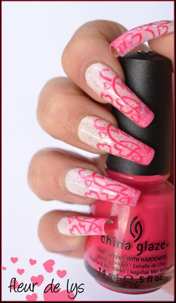 Nail Art St Valentin