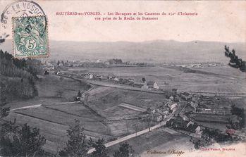 CPA BRUYERES depuis rocheBuemont