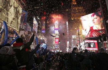 New York's Times Square - New Year 2012