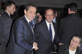 Sarko Hollande diner CRIF