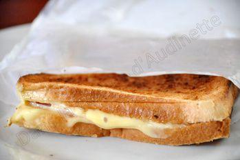 Croque monsieur au grille pain dans la cuisine d 39 audinette - Sachet cuisson croque monsieur grille pain ...