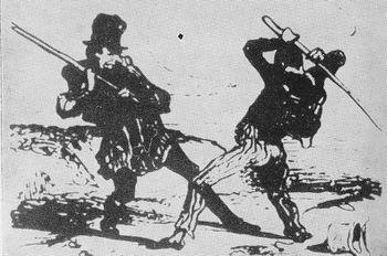 Rixe entre compagnons du Devoir - Daumier