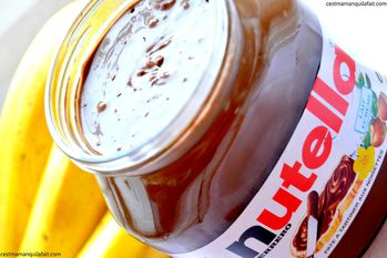NUTELLA A LA BANANE NUTELLA CUSTOMISE c'est maman -copie-1