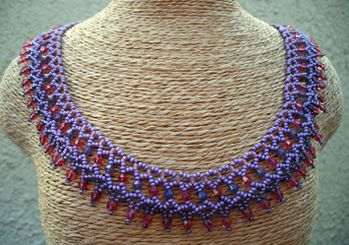 COLLIER NETTING RUSSE MAUVE