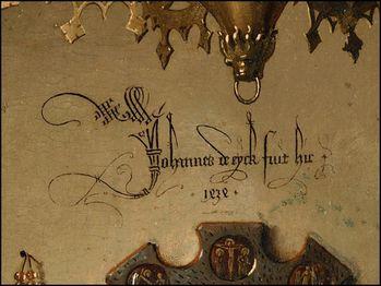 johannes de eyck fuit hic 1434