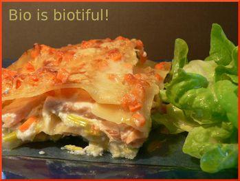 Lasagnes poireaux saumon 1